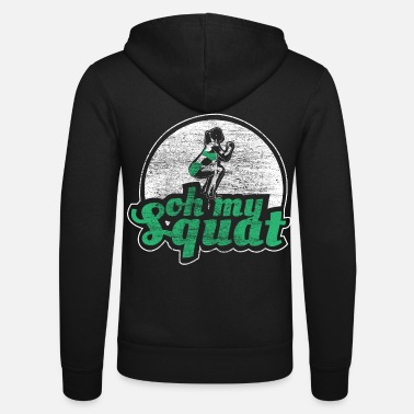 Training Squat squats sport - Unisex zip hoodie