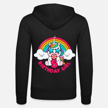 2015 Birthday unicorn 5 year gift - Unisex Zip Hoodie