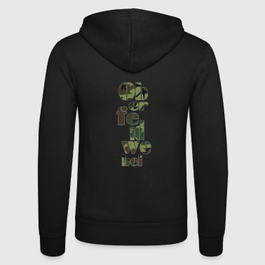 Military Oberfeldwebel lettering military soldier - Unisex Hooded Jacket by Bella + Canvas