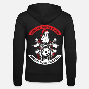 Santa Sons of Santa - North Pole Chapter Shirt Grappig - Unisex zip hoodie