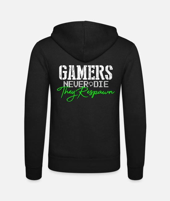 Gaming Tröjor & hoodies - Gamer Gaming Gift - Zip hoodie unisex svart