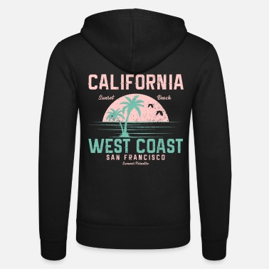 San Francisco Californie Vintage West Coast San Francisco - Veste à capuche unisexe
