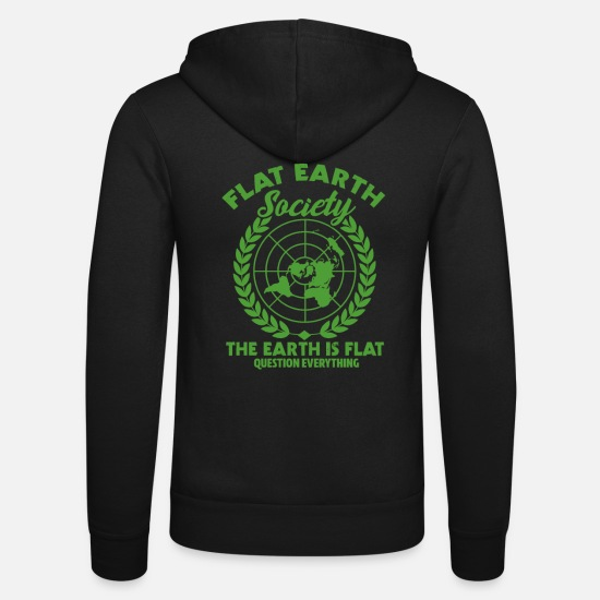Gift Idea Hoodies & Sweatshirts - Flat Earth - Unisex Zip Hoodie black