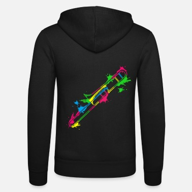 Marchingband Trombone gift idea for trombonist - Unisex Zip Hoodie
