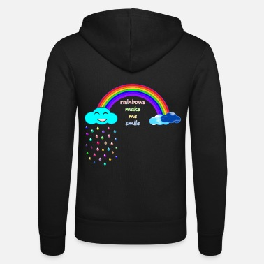 Lgbt rainbows make me smile; Rainbow; smile; lgbt - Unisex Zip Hoodie