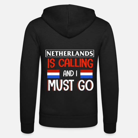 Gift Idea Hoodies & Sweatshirts - Netherlands - Unisex Zip Hoodie black