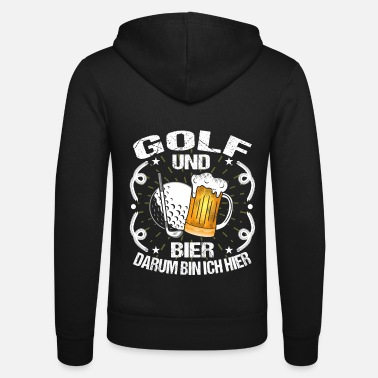 Testo Golf Golfer Golf Course Gift Golf Club Divertente - Felpa con zip unisex