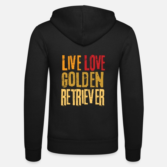 Présenter Sweat-shirts - Golden retrievers - Veste à capuche unisexe noir