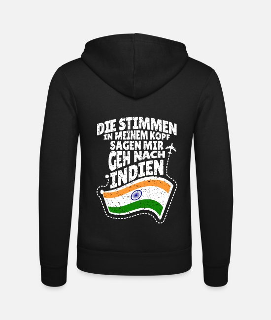 Present Hoodies & Sweatshirts - India - Unisex Zip Hoodie black