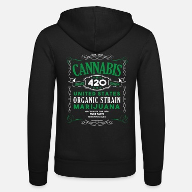Ganja Cannabis Weed Grass Hemp 420 THC Marijuana Gift - Unisex Hooded Jacket by Bella + Canvas