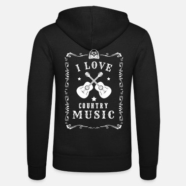 Countrymusic J'aime le pays Music Music Music Countrymusic Gift - Veste à capuche unisexe