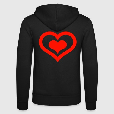 heart - Unisex Hooded Jacket by Bella + Canvas