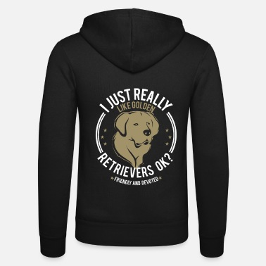 Golden Retriever Idée cadeau cadeau chien Golden Retriever - Veste à capuche unisexe Bella + Canvas