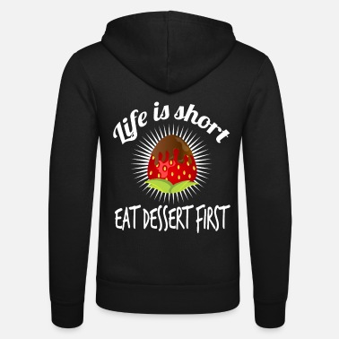 Fan of dessert and strawberries? Grab this cute - Unisex Hooded Jacket by Bella + Canvas