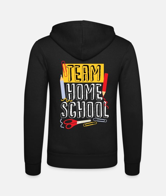 Ciao Felpe - Team Homeschool Quarantine Teacher - Felpa con zip unisex nero