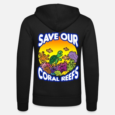 Reef SAVE OUR CORAL REEFS - Unisex Zip Hoodie