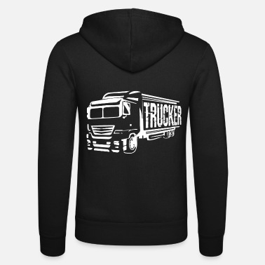 Truck Driver truck driver - Unisex Hooded Jacket by Bella + Canvas