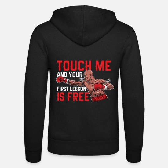 Thai Hoodies & Sweatshirts - Muay Thai - Touch me - Unisex Zip Hoodie black