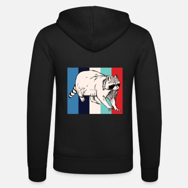 Rodent Rodent | Retro | Rodent | racoon - Unisex Zip Hoodie