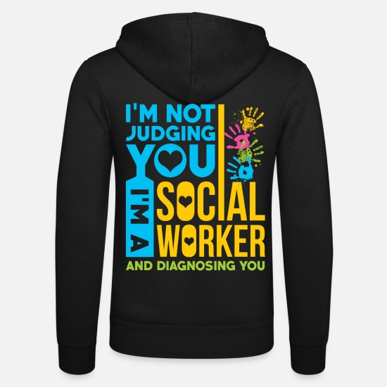 Politics Hoodies & Sweatshirts - Social worker education education - Unisex Zip Hoodie black