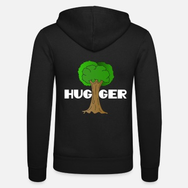 Ecofriendly Beautiful Nature Tree Tshirt Design Hugger Tree - Unisex Zip Hoodie