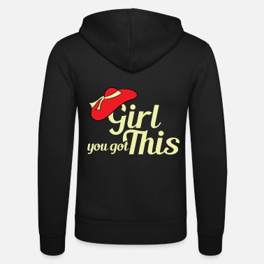 Person Stay pretty and classy with this cute and simple - Unisex Zip Hoodie