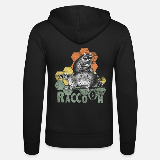 Raccoon Hoodies & Sweatshirts - Raccoon thief - Unisex Zip Hoodie black