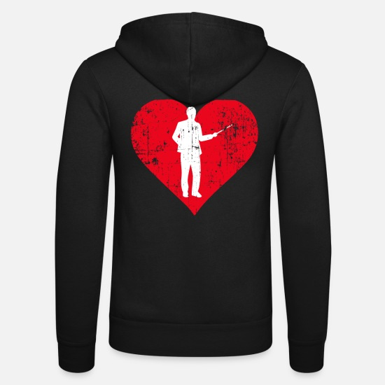 Professor Hoodies & Sweatshirts - A Heart For Professor - Professor T Shirt - Unisex Zip Hoodie black