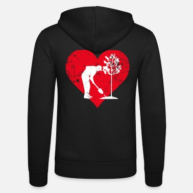 Job A Heart For Ecologists - Okolog T Shirt - Unisex Zip Hoodie