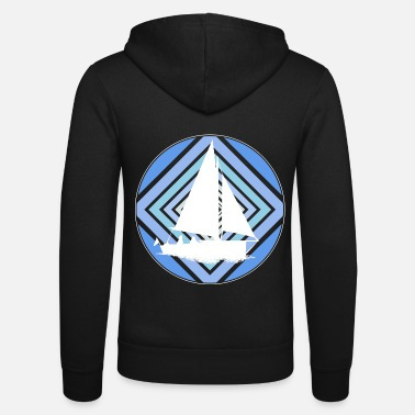 Surprise Sailboat captain noble design - Unisex Zip Hoodie