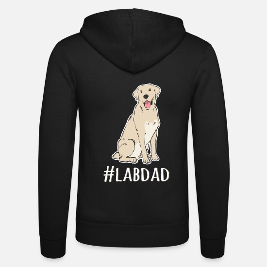 Lab Hoodies & Sweatshirts - Hashtag Lab Dad Tshirt Labrador Retriever Dad - Unisex Zip Hoodie black
