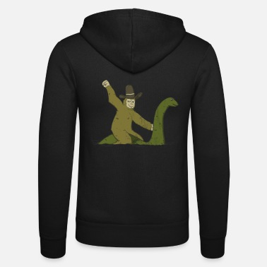 Monstre Du Loch Ness Bigfoot Riding On Nessie T-shirt Monstre du Loch Ness - Veste à capuche unisexe Bella + Canvas