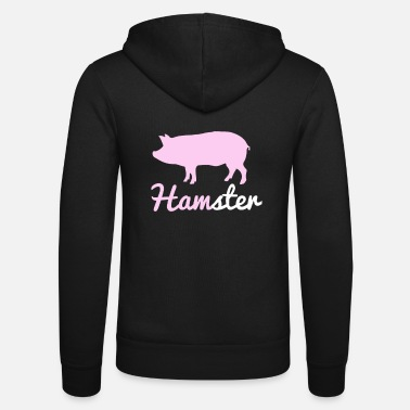 Funny Quotes Funny Farm Hamster and Pig Animal Combo TShirt - Unisex Hooded Jacket by Bella + Canvas