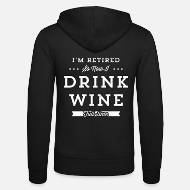 Halloween Retired Wine Drinker Wine Festival T-shirt män och - Luvjacka unisex från Bella + Canvas