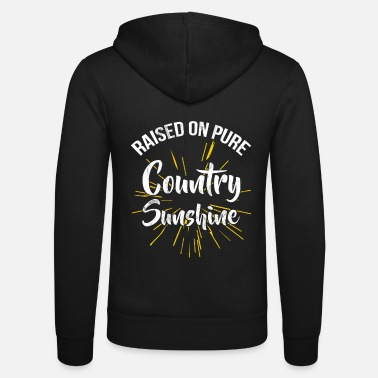 Super Raised On Pure Country Sunshine Farming Rural - Unisex hoodie van Bella + Canvas