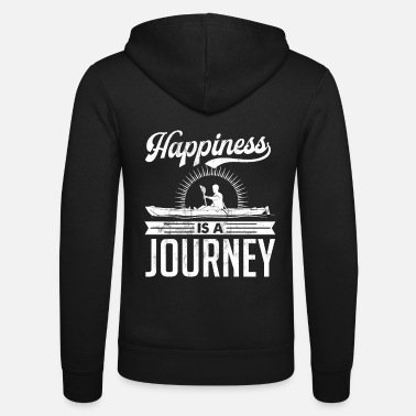 Grappige Kayak Happiness is een Journey Distressed Tshirt - Unisex zip hoodie