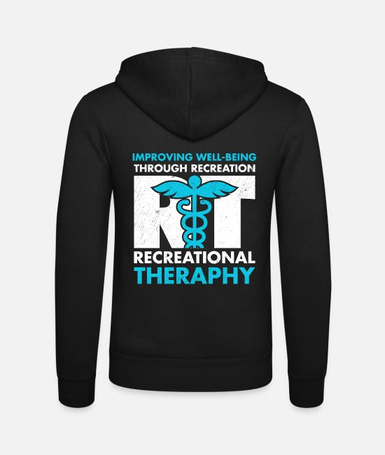Improve Hoodies & Sweatshirts - Therapeutic Recreation Tshirt Recreational - Unisex Zip Hoodie black