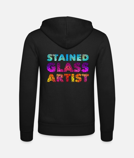 Artist Hoodies & Sweatshirts - Stained Glass Artist Design - Unisex Zip Hoodie black