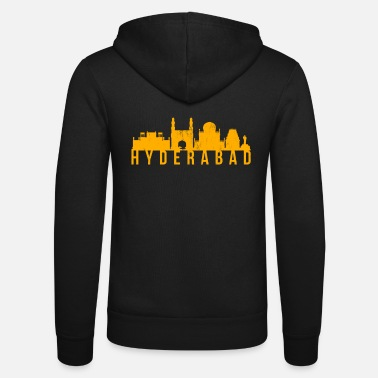 Teens Hyderabad print Clothes Adult Teen Kids Apparel - Unisex Zip Hoodie