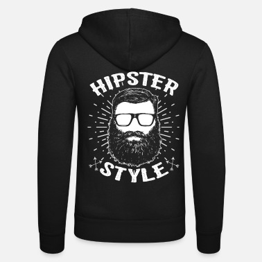 Hipster Hipsters hipster - Unisex zip hoodie