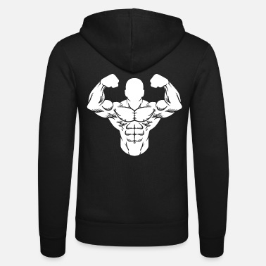 Weights Bodybuilder Strong Man Toning Muscle Sport - Unisex Zip Hoodie