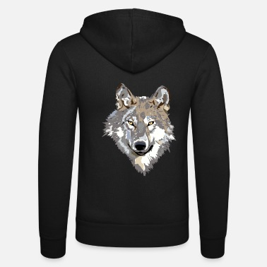 Wolf The wolf - Unisex Hooded Jacket by Bella + Canvas