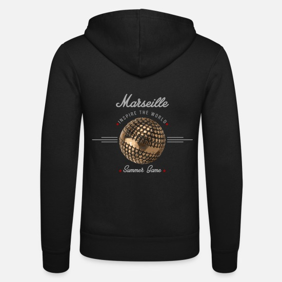 Pétanque Sweat-shirts - Marseille inspire the world - Veste à capuche unisexe noir