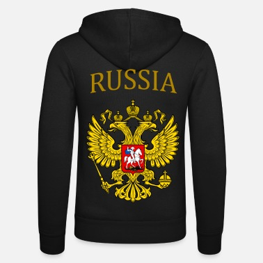 Arms Russian Federation. Russia Russia Россия Русский - Unisex Zip Hoodie