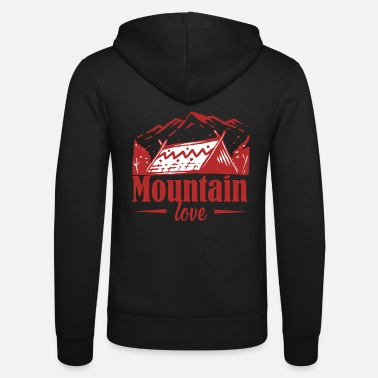 Mountain love - Unisex Kapuzenjacke