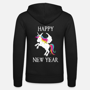 Production Year Happy New Year product Funny Unicorn print - Unisex Zip Hoodie