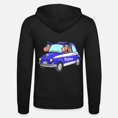Polizeikommisar Polizei Cartoon - Unisex Kapuzenjacke