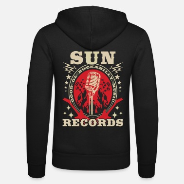 Rockabilly Rockabilly Records Guitar Sun Radio - Unisex Zip Hoodie
