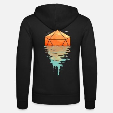 Rippling d20 - D & D Dungeons and dragons dnd - Unisex Zip Hoodie