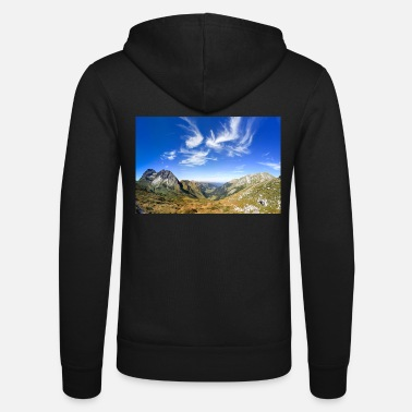 Great clear view in the mountain with beautiful clouds. Alp - Unisex Zip Hoodie